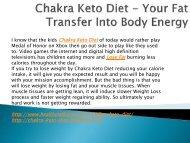 Chakra Keto Diet - Increase Your Stamina Level