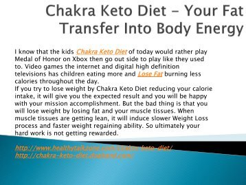 Chakra Keto Diet - Increase Your Stamina Level