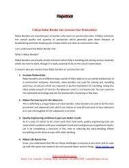 5 Ways Rebar Bender Can Increase Your Productivity