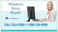 Fix Windows 7 Error Online with the help of Windows 7 Error Repair+1-888-720-4956