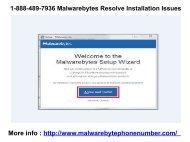 1-888-489-7936 Malwarebytes Resolve Installation Issues