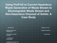 Using ProFix® to Convert Hazardous Waste Generation of Waste ...