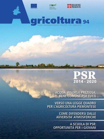 """Rivista """"Agricoltura"""" Regione Piemonte - n.94 giugno 2018"""