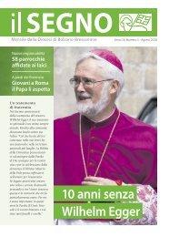 Il Segno - Mensile della Diocesi die Bolzano-Bressanone - Anno 54, numero 5, agosto 2018