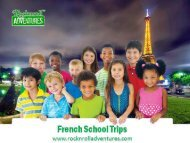 French School Trips Book on Rocknrolladventures.com