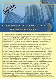 Literature Review in Sociology Example