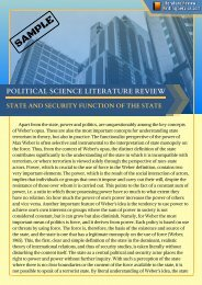 Sample Political Science Literature Review