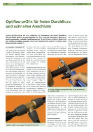 PR-Bericht Optiflex-prOfix - R. Nussbaum AG