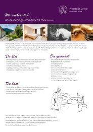 Stellenausschreibung Housekeeping