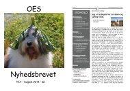 2018 OES nyhedsbrevet Bladet Nr.4 - august 52. årgang - Forside Farver v.1.0 Farver