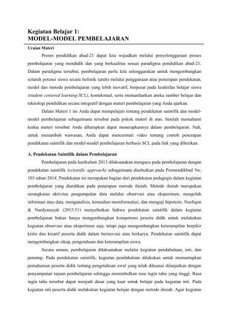 Daring Modul 5 Kb 1 Model Pembelajaran