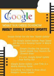What You Need To Know About Google Speed Update