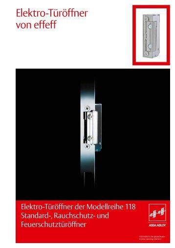 Türöffner Modell 118 - Felgner Sicherheitstechnik GmbH & Co KG