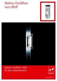 Elektro-Türöffner von effeff - Assa Abloy