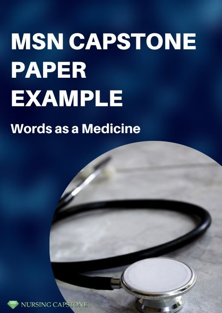 Example of a MSN Capstone Paper