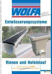 Rinnen und Hofeinlauf Entwässerungssysteme