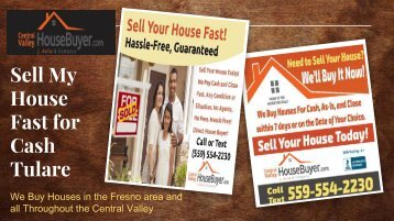 Sell My House Fast for Cash Tulare – Central Valley House Buyer