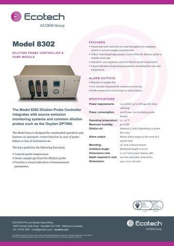 ECOTECH Model 8302 Dilution Probe Controller