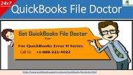 Remove All QuickBooks Error Code Series With QuickBooks File Doctor Diagnostic Tool