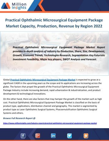 Practical Ophthalmic Microsurgical Equipment Package Market Capacity, Production, Revenue by Region 2022