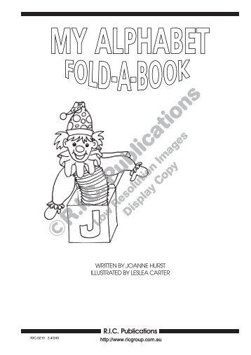 RIC-0210 My Alphabet Fold a book