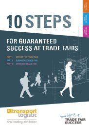transport logistic 2019 // 10 steps for guaranteed success at trade fairs