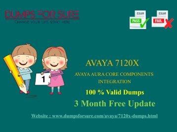 Avaya 7120x Dumps