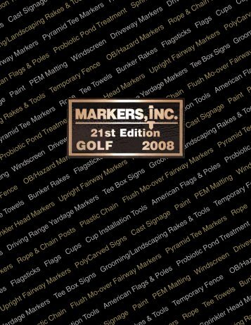 Golf Course Supplies, Golf Flags - Golf Gifts by Markers Inc 2008 ...