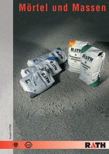 Mörtel und Massen - Rath