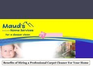 Benefits of Hiring a Professional Carpet Cleaner For Your Home