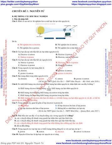 Quyển Phát triển tư duy sáng tạo giải nhanh bài tập trắc nghiệm hóa học 10 - Nguyễn Minh Tuấn
