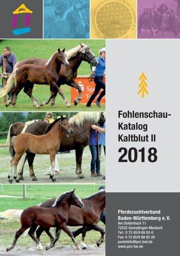 Fohlenschau-Katalog Kaltblut II - 2018