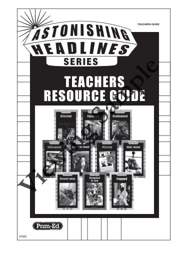 PR-6785UK Astonishing Headlines Teacher Resource Book