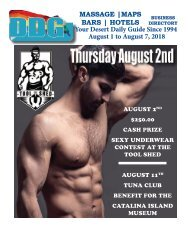 Desert Daily Guide LGBT Palm Springs California, this week. August 1 to August 7, 2018