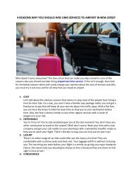 4 Reasons Why You Should Hire Limo Services To Airport In New Jersey