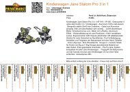 Kinderwagen Jane Slalom Pro 3 in 1 - Bazar.at