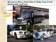 Reason to Hire a Party Bus to Make Your Event Memorable And Fun