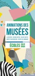Brochure des animations des musées - Ecoles - 2019-2020