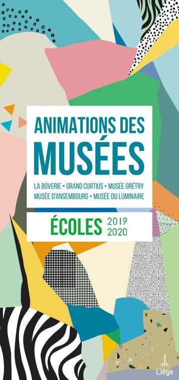 Brochure des animations des musées - Ecoles - 2018-2019