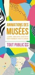 Brochure des animations des musées - Tout public - 2019-2020