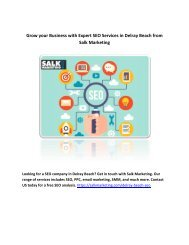Grow your Business with Expert SEO Services in Delray Beach from Salk Marketing