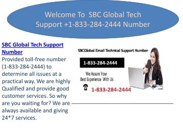How To Recover Your Account 1-(833)-284-2444 SBCGlobal Tech Support Number