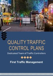 One of the Leading Providers of Quality Traffic Control Plans
