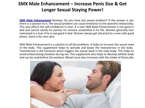 SMX Male Enhancement - The Fundamentals Of Male Power Revealed