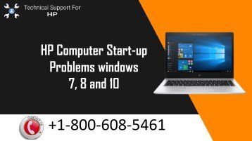 +1-800-608-5461How to Fix HP Computer Start-up Problems windows 7, 8 and 10