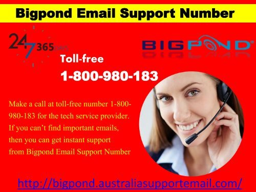 Share Bigpond Email Account Problems With Support Number| 1-800-980-183