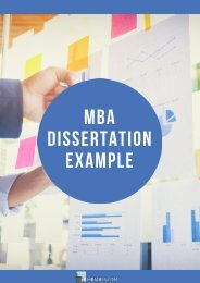 MBA Dissertation Example