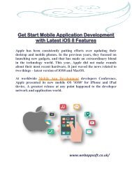 Get Start Mobile Application Development with Latest iOS 8 Features