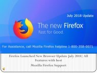 1 Aug Firefox New Update July 2018