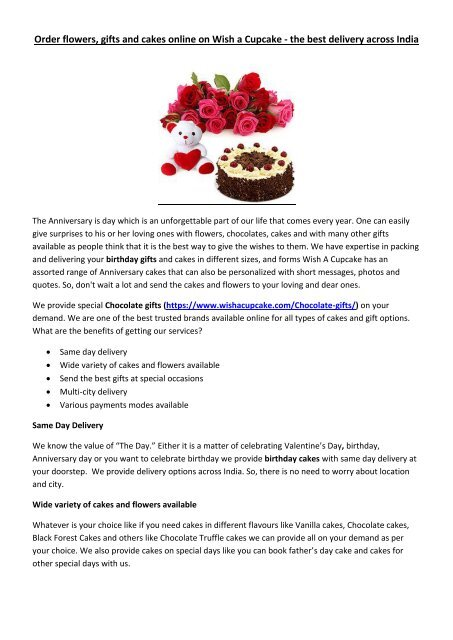 Tremendous Order Flowers Ts And Cakes Online On Wish A Cupcake The Best Personalised Birthday Cards Epsylily Jamesorg
